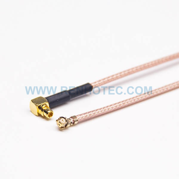 RF Coaxial Cable, MMCX Angled Male, Ufl Ipex Angled Female, RG178 Cable Assembly,MMCX cable